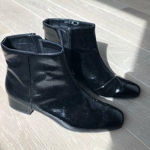 Sam Edelman Circus black patent leather boots